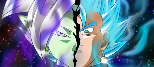 zamasu y vegeta azul dragon ball super
