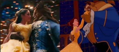 Emma Watson (Belle) e Dan Stevenson (la Bestia) al ballo