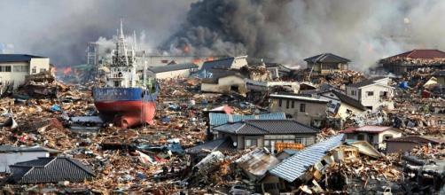Devastación tras el tsunami en Japón en 2011
