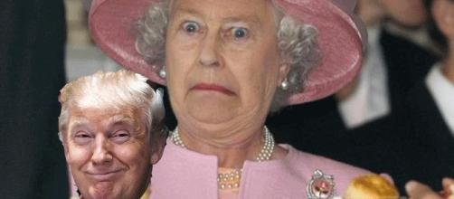 Le Donald Trump reçu par la reine Elizabeth ? Indigeste !