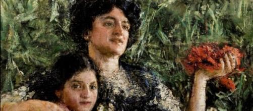 Ritratto della Signora Pinelli con la figlia ( Antonio Mancini) 1911