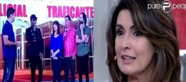 Fátima Bernardes é acusada de defender bandido