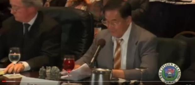 Frame estratto dal video della conferenza di Shi Li Sun.