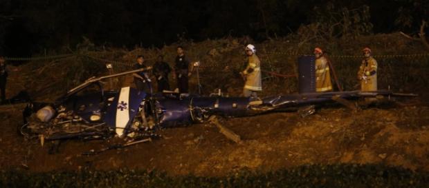 Helicóptero da Polícia Militar foi abatido por criminosos