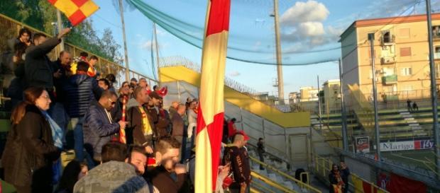 Sono stati 130 i tifosi del Lecce in trasferta.