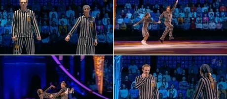 Screenshot compilation from last Saturday's 'Ледниковый Период', the Russian version of 'Dancing on Ice' (creative commons / free to use).
