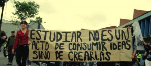 Estudiantes en manifestaciones
