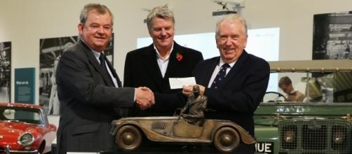 L-R: Roger Moran, Charles Morgan, Robert Dover. Photo courtesy of the British Motor Museum.