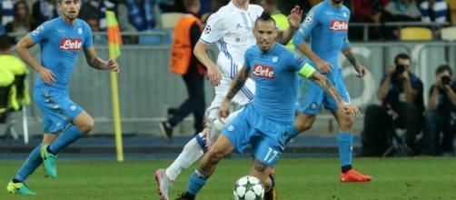 Marek Hamsik fra i meno brillanti nel deludente 0-0 con la Dinamo Kiev