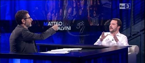 """Referendum, Salvini da Fazio: 'Se vince il no, al voto subito"""""""