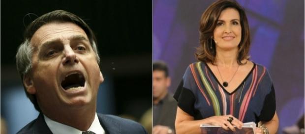 Bolsonaro atacou Fátima Bernardes publicamente