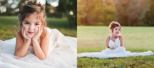 Ensaio fotográfico com o vestido de noiva da mãe, que faleceu prematuramente.