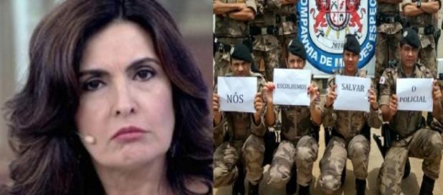 Fátima Bernardes e a polêmica com a PM