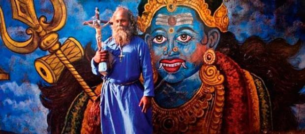 La mitología y espiritualidad retratada en las calles de la India (Foto: Guiadelocio.com)