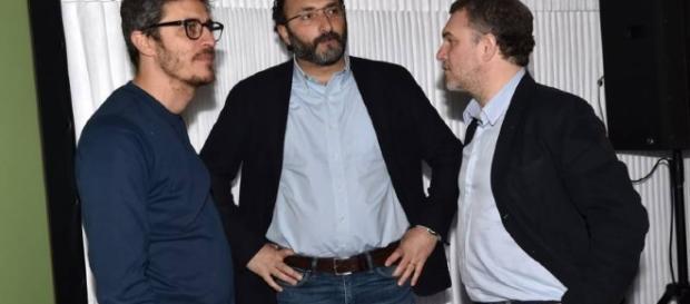 Pif con Lirio Abbate e Marco Lillo