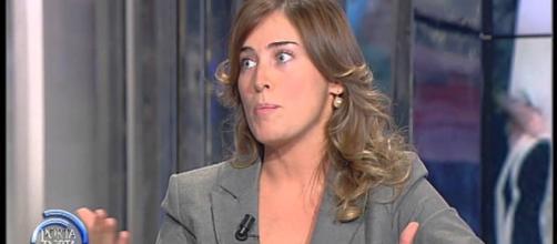 Ministra Elena Boschi a porta a porta