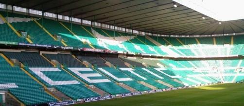 O Celtic Park é o palco do jogo da Champions League entre o Celtic e o Barcelona.