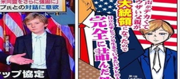 Barron Trump in versione manga