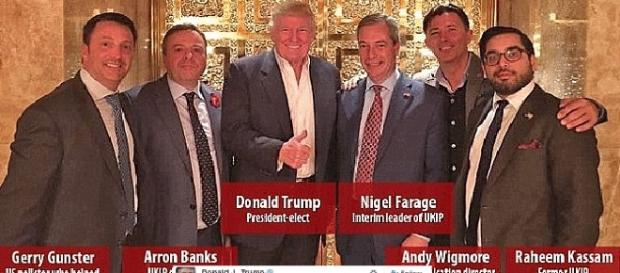 Donald Trump, Nigel Farage et ses potes de l'Ukip, à la Trump Tower