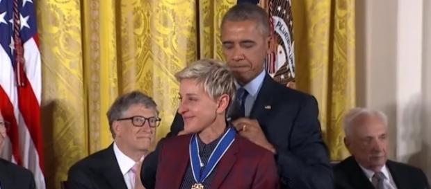 Nella foto: La premiazione di Ellen DeGeneres
