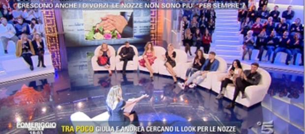 Pomeriggio 5: scontro in studio tra Salvatore Di Carlo e Andrea Damante