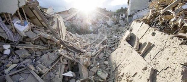 Quello che oggi resta di Accumoli dopo il sisma del 24 agosto