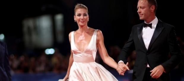 Rocco Siffredi con la moglie alla Mostra del Cinema di Venezia