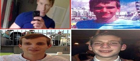 Na primeira imagem, o homem condenado pelos homicídios, e, nas subsequentes, as vítimas Gabriel Kovari, Jack Taylor e Daniel Whitworth