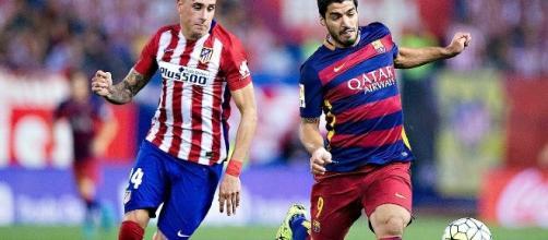 José Gimenez in tackle su Suarez