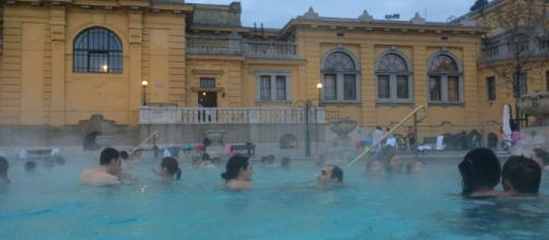 Photo taken at szechenyi thermal baths, budapest