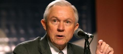 Sen. Jeff Sessions addressing summit participants. Wikipedia – Gage Skidmore