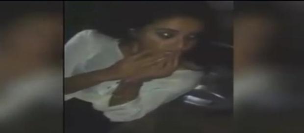 Jovem filmada drogada depois de usar LSD (foto: Facebook)