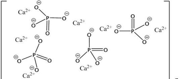 La hidroxiapatita, un mineral formado por fosfato de calcio cristanido contenido en el esmalte de nuestros dientes