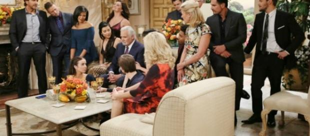 The Forresters, Logans and Spencers put their family and business drama away for Thanksgiving, via CBS.com