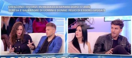 Andrea e Giulia contro Salvatore e Teresa