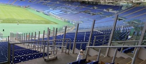 Le barriere che dividono a metà le curve dello Stadio Olimpico