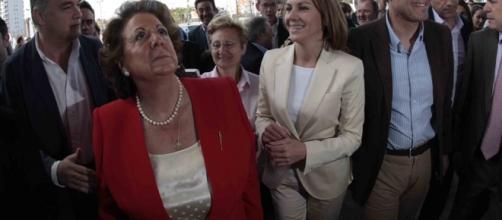 Rita Barberá en Valencia junto al PP
