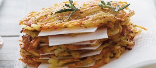 Rosti di patate e zucca con formaggio d'alpeggio