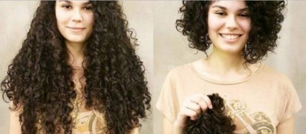 Antes e depois de cortar o cabelo