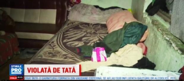 Fetița de 12 ani a fost violată de propriul tată