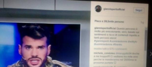Il post pubblicato da Gianni Sperti su Instagram