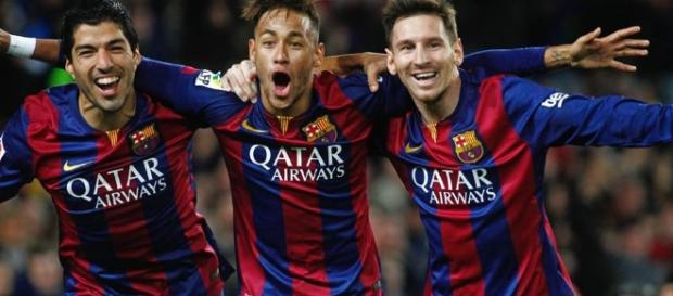 O trio MSN, provando o talento sul-americano.