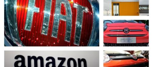 Accordo tra Fiat e Amazon foto presa da Sky tg 24
