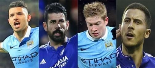 Man City - Chelsea : Aguero/De Bruyne vs Hazard/Diego Costa