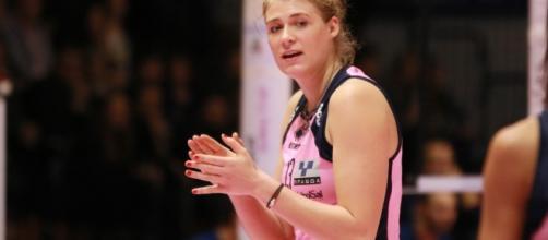 Samanta Fabris, protagonista (22 punti) di Casalmaggiore contro Firenze