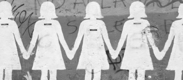 L'iconico murales contro il femminicidio