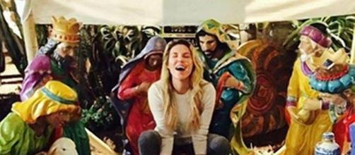 Brandi Glanville offends followers with nativity scene photo. Photo: Blasting News Library - goodviews.net