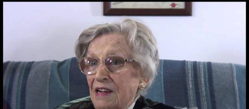 Topazia Alliata in età anziana.