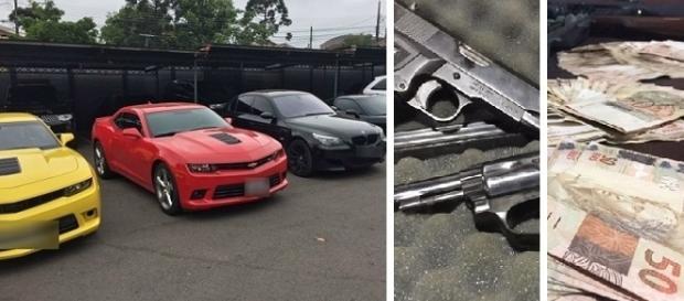 Polícia apreende 15 carros de luxo em casa de casal suspeito de desvio de dinheiro em restaurante