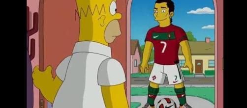 Cristiano Ronaldo en Los Simpsons